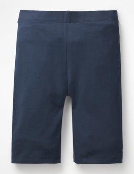 Navy Plain Jersey Knee Shorts