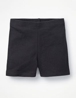 Black Plain Jersey Shorts
