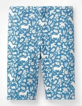 Lake Blue Wild Ponies Jersey Knee Shorts