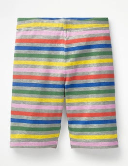 Grey Marl Rainbow Jersey Knee Shorts
