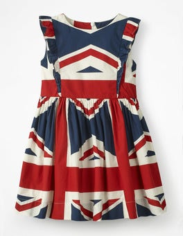 Navy, Union Jack Mini Jack Kleid