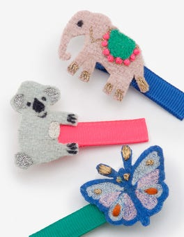 Animals 3 Pack Hair Clips