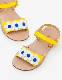 Sunshine Yellow Vacation Sandals