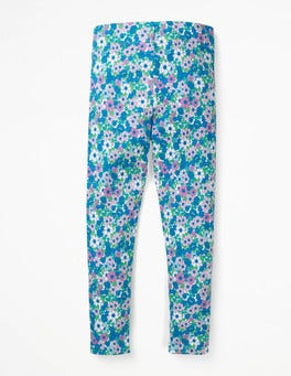 Sea Breeze Blue Forget Me Not Fun Leggings
