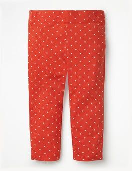 Beam Red Pin Spot Stripe & Spot Cropped Leggings