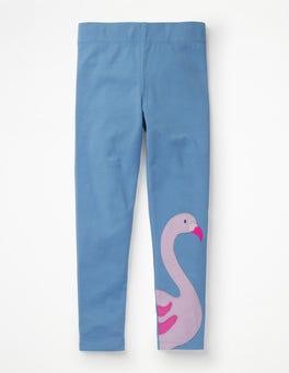 Duke Blue Flamingo Appliqué Leggings