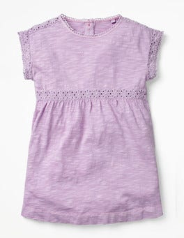 Lilac Pink Garment Dye Jersey Top