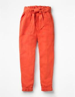 Tropical Orange Tie-waist Pants