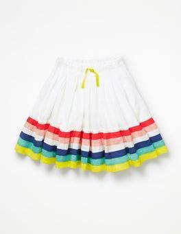 White/Rainbow Twirly Skirt