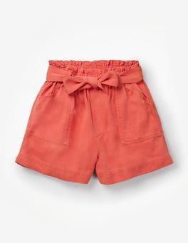 Tropical Orange Tie-waist Shorts