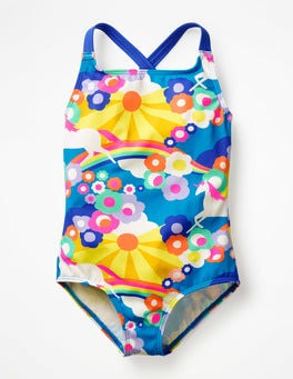 Multi Unicorn Sky Cross-back Swimsuit