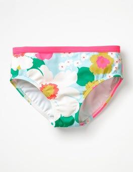 Blue Quartz Tropical Floral Patterned Bikini Bottoms