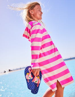 Stripy Towelling Beach Dress