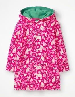 Pink Glo Indian Garden Fun Towelling Beach Dress