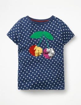 Starboard Blue Cherry Colour-change Sequin T-shirt