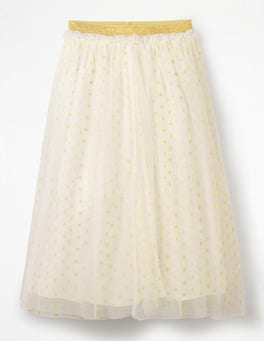 Lurex Spot Tulle Skirt