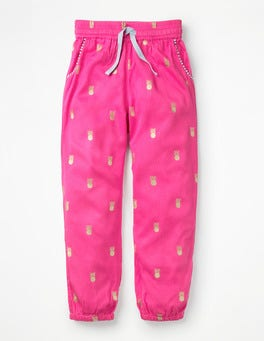 Festival Pink Pineapples Relaxed Woven Trousers