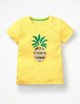 Primrose Yellow Pineapple Sequin-change T-shirt