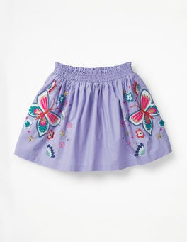 Parma Violet Butterflies Bright Embellished Skirt