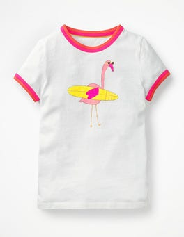 White Flamingo Animal Fun T-shirt