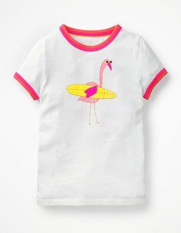 White Flamingo Animal Fun T-shirt