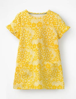 Sunshine Yellow Daisy Cloud Colourful Tunic
