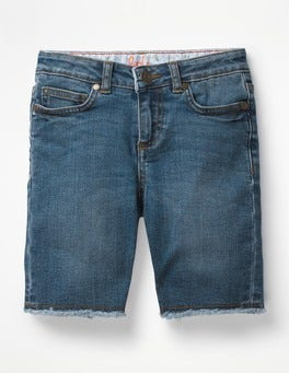 Mid Vintage Denim Long Denim Shorts