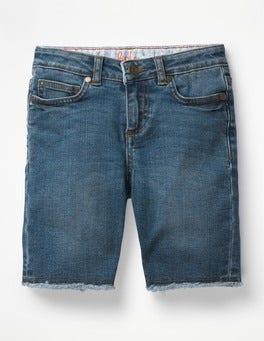 Mid Vintage Denim Long Denim Shorts