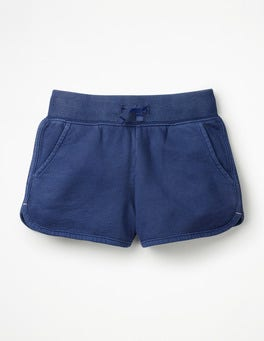 Starboard Blue Garment-dyed Jersey Shorts