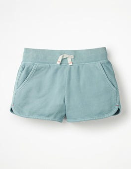 Mineral Blue Garment-dyed Jersey Shorts