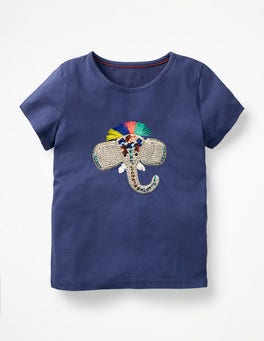 Starboard Blue Elephant Crochet Animal T-shirt