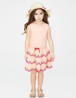 Parisian Pink Tiered Ruffle Dress