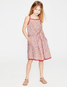 Parisian Pink Flamingo Floral Tie-front Dress