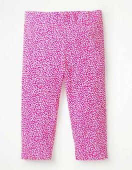 Pink Glo & White Sweet Berry Fun Cropped Leggings