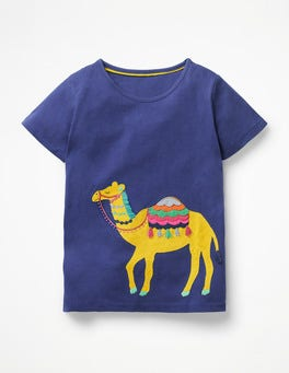 Starboard Blue Camel Safari Appliqué T-shirt