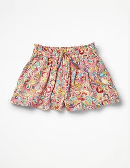 Flamingo Pink Tropical Paisley Printed Culottes