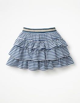 Starboard Blue/White Stripe Jersey Ruffle Skort