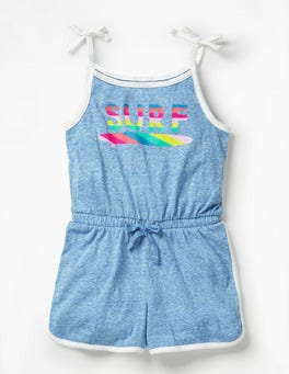 Duke Blue Strappy Retro Romper