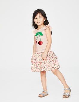 Parisian Pink Cherries Colour-change Sequin Dress