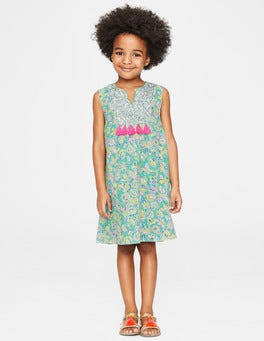Sea Breeze Tropical Paisley Sequin Detail Dress