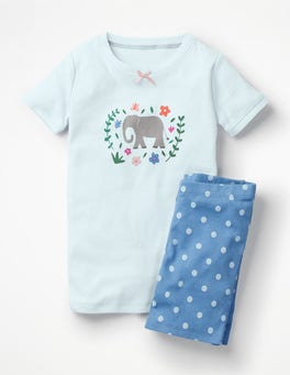 Lake Blue Elephant Fun Short John Pyjamas