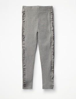 Grey Marl Ruffle Leggings