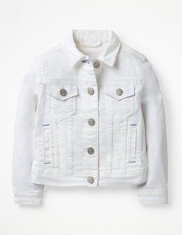 Weiß Denim-Jacke