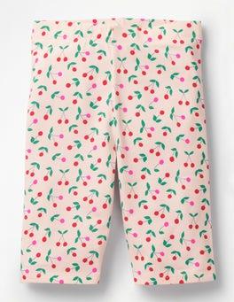 Parisian Pink Cherries Jersey Knee Shorts