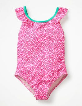 Festival Pink Berries Flutter Back Swimsuit