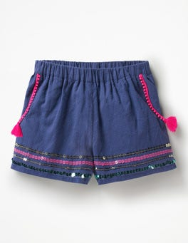 Starboard Blue Tassel Detail Shorts