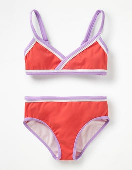 Sunset Red Colourful Bikini Set