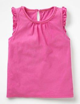 Festival Pink Flutter Sleeve Jersey Top