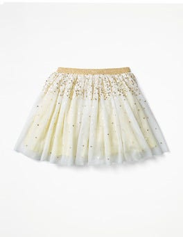 Primrose Yellow Sparkly Sequin Tulle Skirt