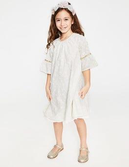 Textured Broderie Boho Dress
